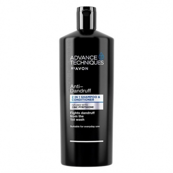 AVON Advance Techniques ANTI-DANDRUFF Anti-Schuppen 2-in-1 Shampoo & Spülung mit Zinkpyrithion /700