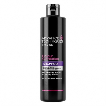"AVON Advance Techniques COLOUR CORRECTION  Farbkorrigierendes Shampoo mit der ""Violet Pigment""-Technologie"