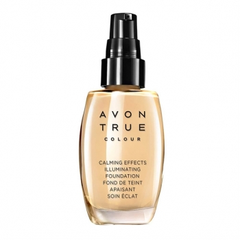 AVON True Colour CALMING EFFECTS Mattierende Foundation für empfindliche Haut