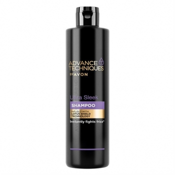 "AVON Advance Techniques ULTRA SLEEK Antikräusel-Shampoo mit ""Lotus Shield""-Technologie"