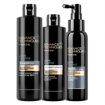 AVON Advance Techniques LOSS CONTROL 3-teiliges Haarpflege-Set