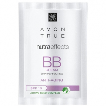 AVON Nutra Effects Anti-Aging BB-Creme für einen makellosen Teint LSF 15 Probe Hautton LIGHT