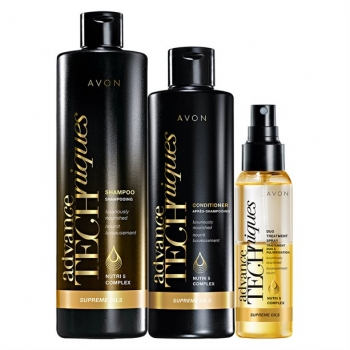 AVON Advance Techniques SUPREME OILS 3-teiliges Haarpflege-Set