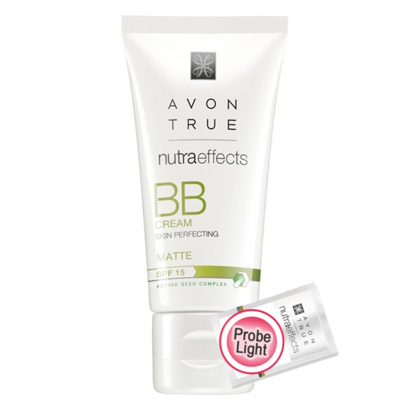 AVON Nutra Effects Mattierende BB-Creme für einen makellosen Teint LSF 15 Probe Hautton LIGHT